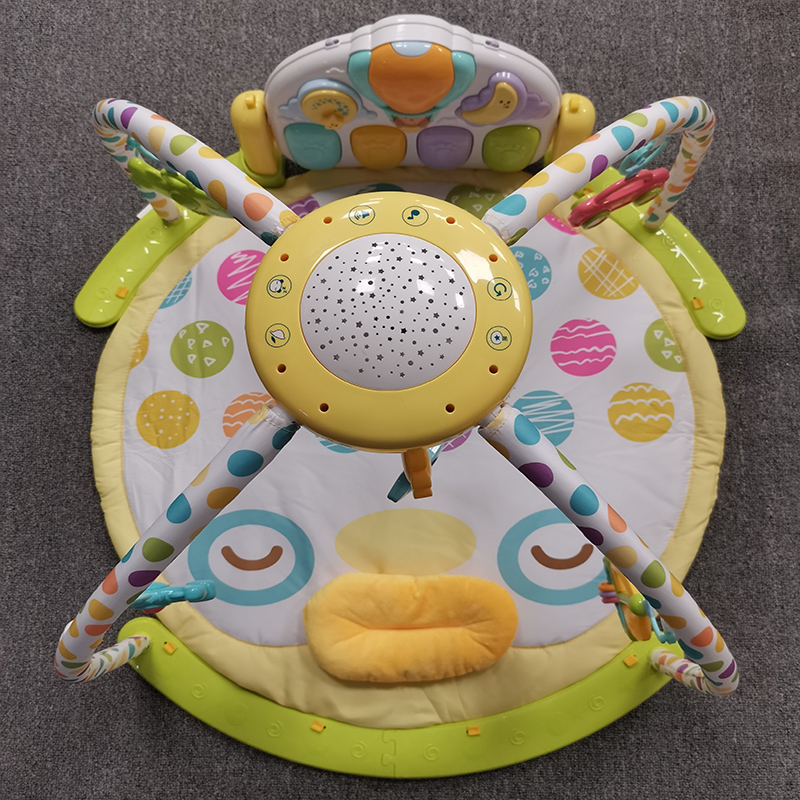 Plastic round baby activity playmat/playgym -duck